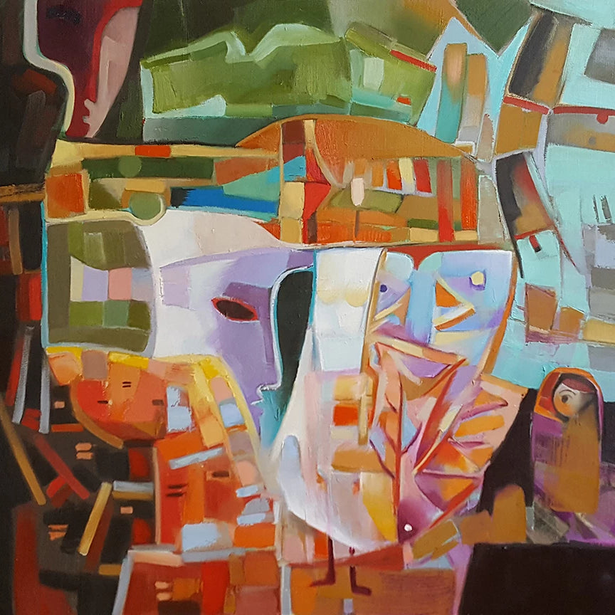 Untitled 9 by Ira Simidchieva, Oil on Canvas