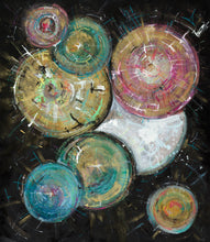 A Sparkling Universe of Inconceivable Potential by Annika Cox, Mixed Media on Wood