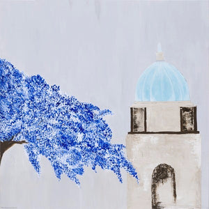 A Cathedral by Maria Kruschewsky, Acrylic on Canvas