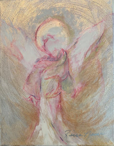 Angels Among Us by Ricia Neura, Acrylic on Canvas