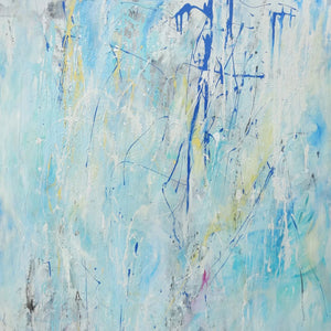 Blue Reflection by Pearl Bayne, Mixed Media on Canvas
