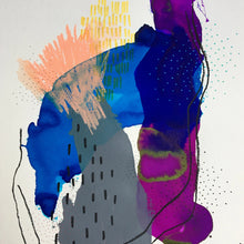 Between Colors 13 by Alexandra Nunes, Mixed Media on Paper