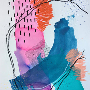 Between Colors 29 by Alexandra Nunes, Mixed Media on Paper
