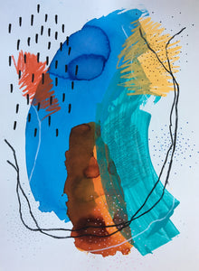 Between Colors 31 by Alexandra Nunes, Mixed Media on Paper