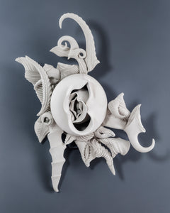 """Wall Piece No. 27"" By Charles Birnbaum, Porcelain"