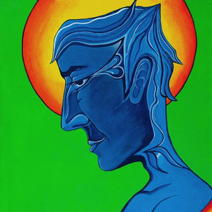 Blue David by Abbie Manley, Acrylic on Canvas Board
