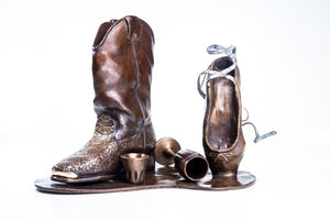 If the Shoe Fits by K.G. Romine, Bronze Sculpture