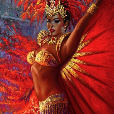Brazilian Queen by Wil Cormier, Oil on Canvas