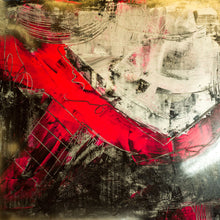 "Abstract Contempt 48""X48"" mixed media on canvas by Shane Townley"