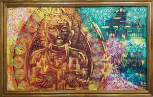 Buddha by Natali Sokolova, Painting on Silk