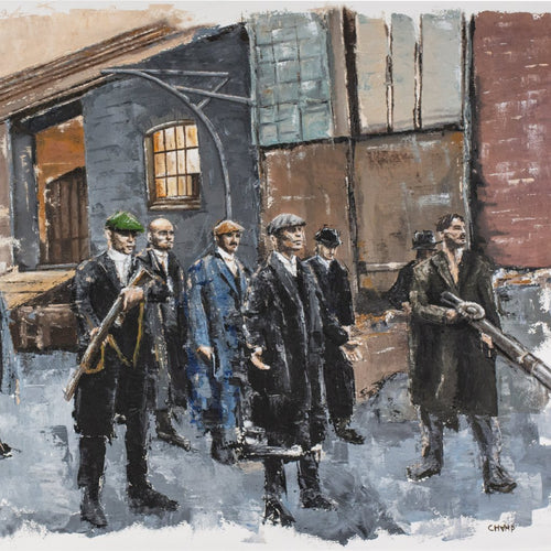 By Order Of The Peaky Blinders by Marc van Rooijen, Oil on Canvas