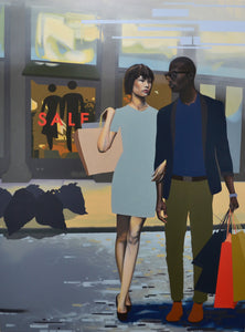 Shoppers by Dustin Joyce, Oil on Canvas