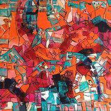 Crazy World of Orange by Jette Bruun, Acrylic on Canvas