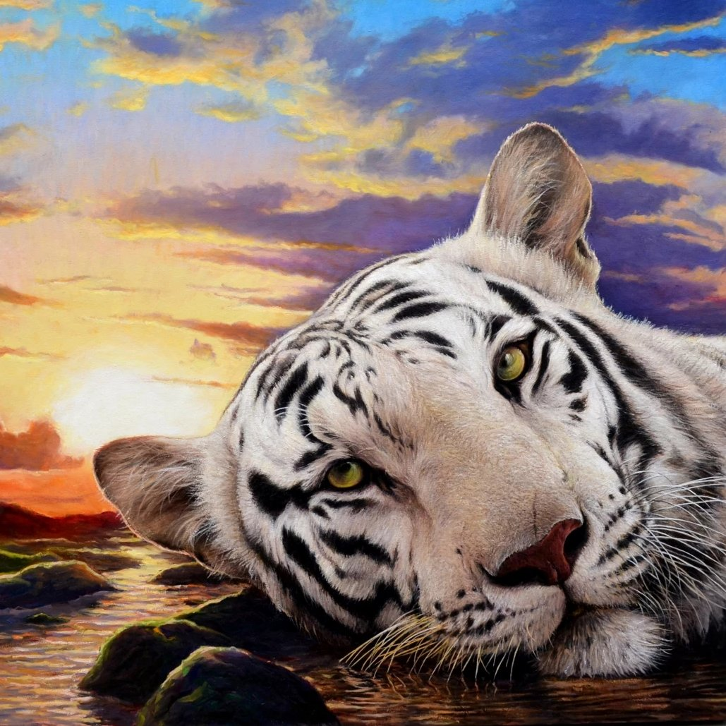White Monarch by Wayne Weberbauer, Oil on Canvas