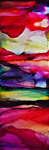 Desert Sun by Elyse Elguezabal, Alcohol Ink on Canvas