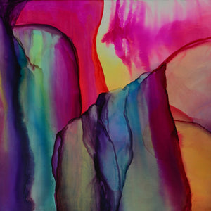 Elevate by Elyse Elguezabal, Alcohol Ink on Canvas
