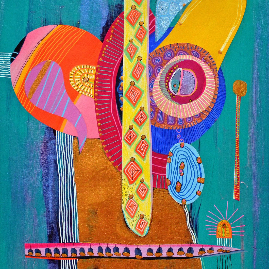El Artesano by Cynthia Pareja Dubin, Mixed Media on Paper