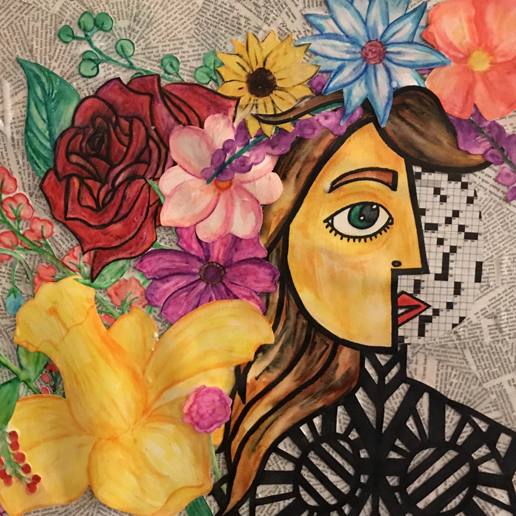 Flowering by Chesleigh Meade, Mixed Media