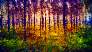 Forest Light by Marion Meadows, Dye Infused Metal