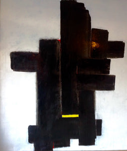 """No. 1"" By Hassan Kouhen, Oil on Canvas"