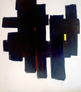 """No.3"" By Hassan Kouhen, Mixed Media on Canvas"