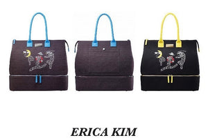 """Golfer Bags"" by Erica Kim, Fabric and Leather"
