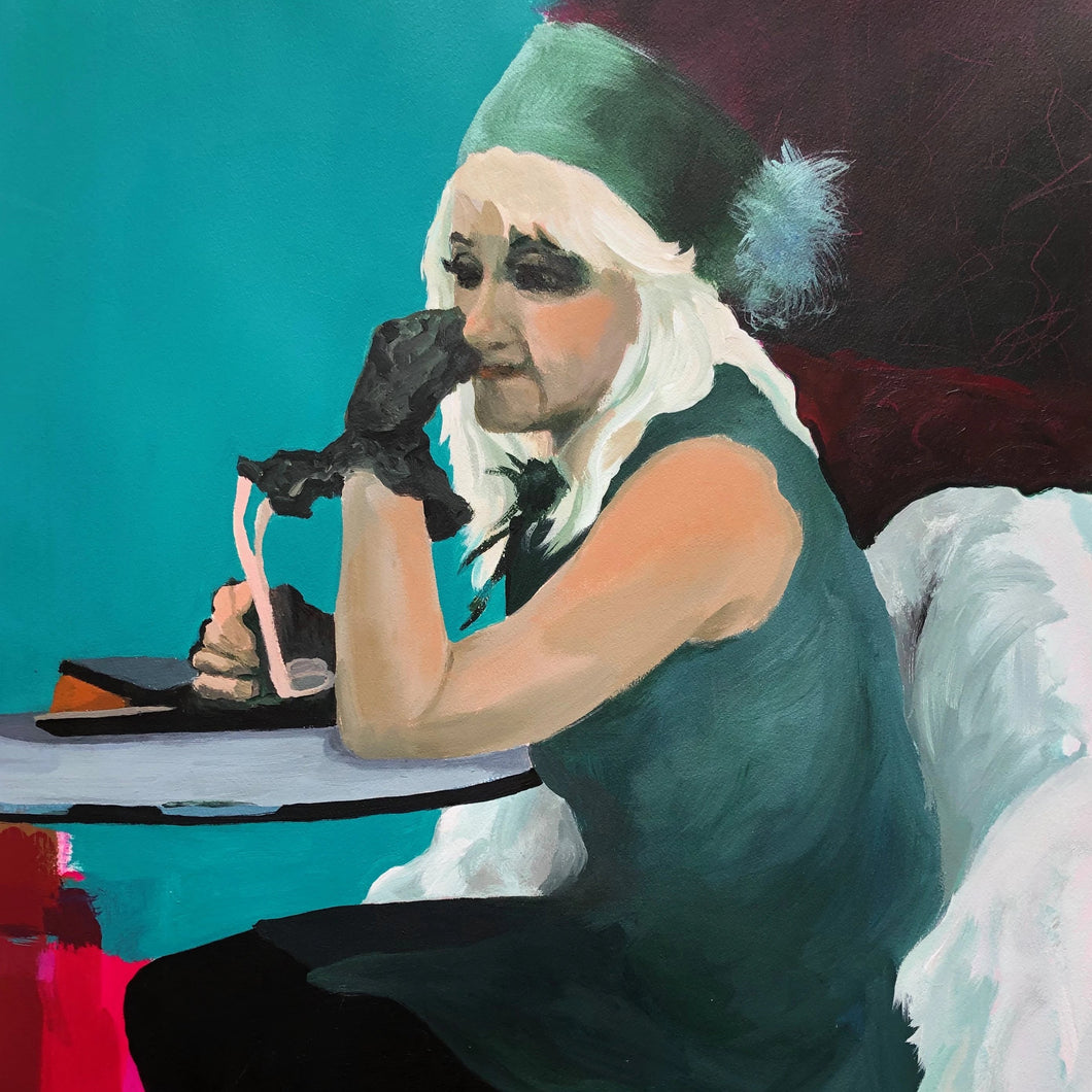 Madam Green by Ruth Ellen Hoag, Acrylic on Paper