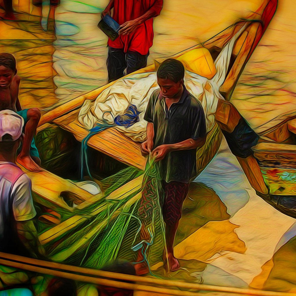 Ghana Fisherman by Marion Meadows, Photograph on Aluminum