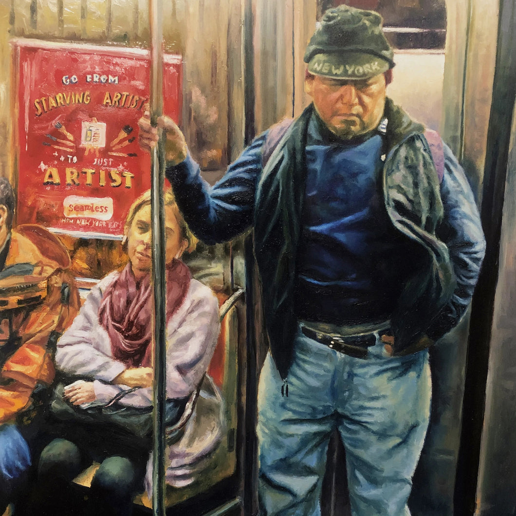 Sleeping Worker by Asilbek Akmalov, Oil on Wood Board