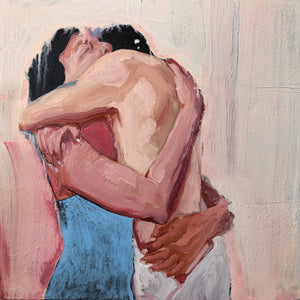 Hugging Otherwise By Brad Necyk, Oil On Canvas