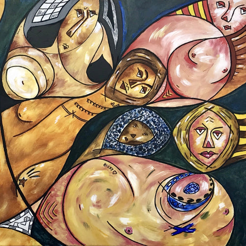 The Union of Reclining Nudes by Paul Scott Malone, Acrylic on Canvas