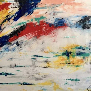 """Mar Blanco"" By Tetyana Bibik, Acrlyic on Gallery Canvas"