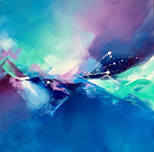 """Mystic Waves"" By Ravali Kavoori, Acrylic on Canvas"