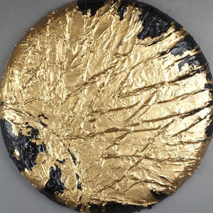 Constellation 3 by Daniele Pollitz,  Acrylic Paste Spray Paint and Gold Leaf