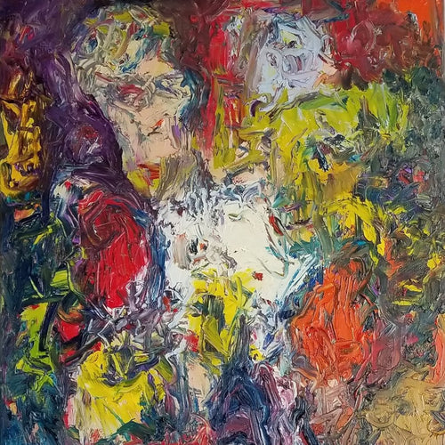 Seance Time by Norman Liebman, Oil on Canvas