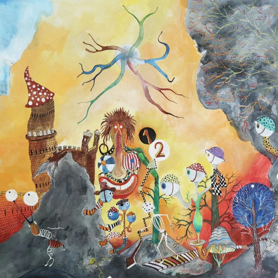 Outside the Castle by Jonni Ekdahl, Gouache on Paper