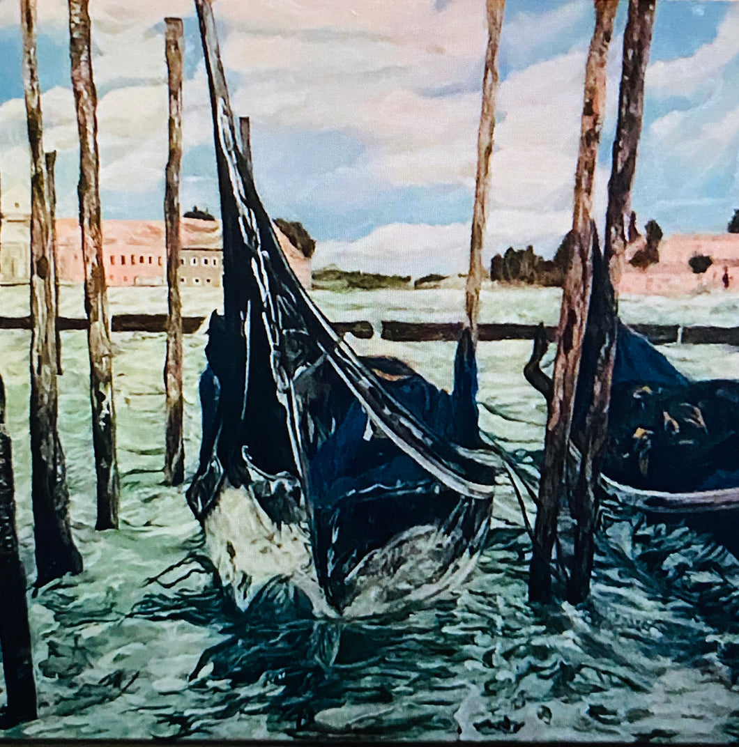 """Venice Ways"" By Nancy Dimiceli, Oil on Canvas"