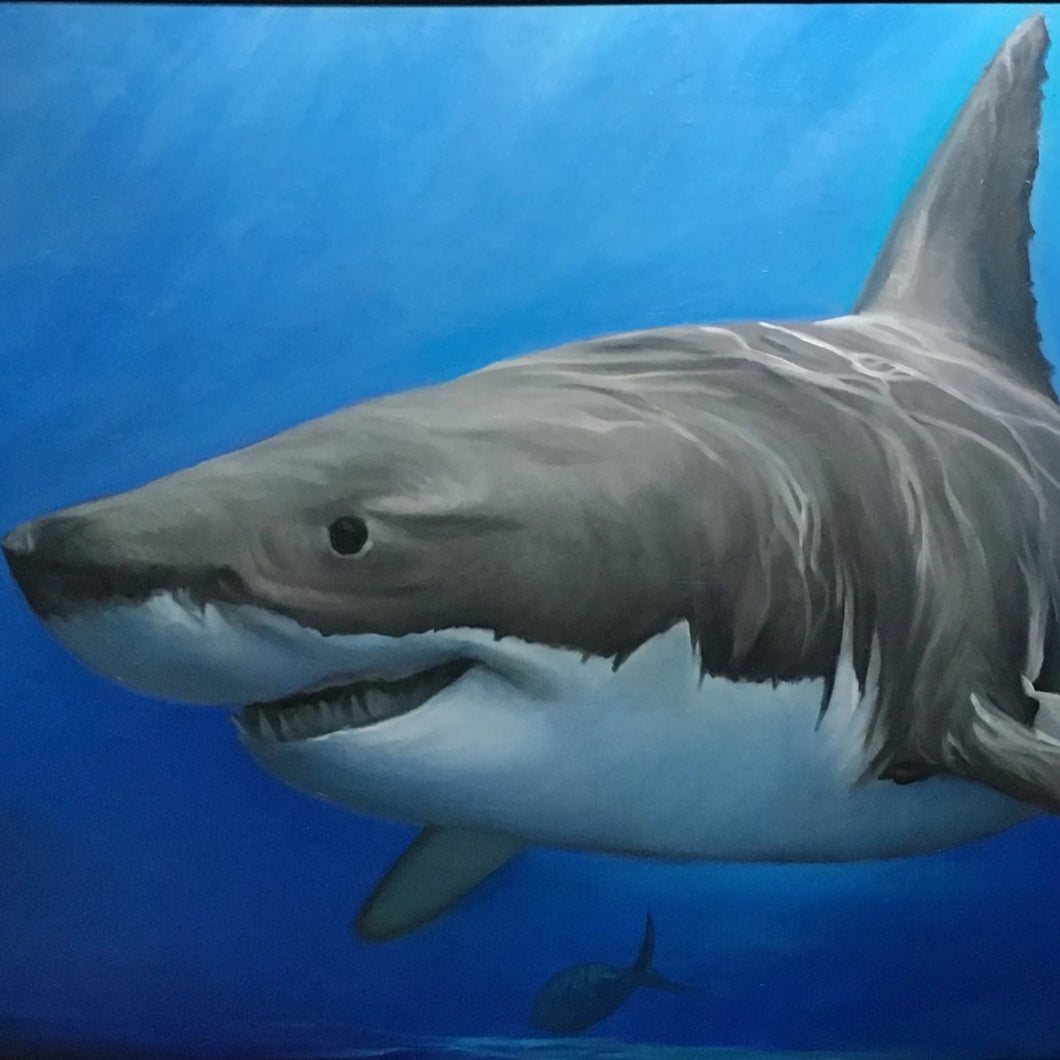Great White by Jay Perez, Oil on Wood Panel
