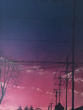 Sunrise over Arriola Power Station by Phillip Conner, Spray Paint and Acrylic