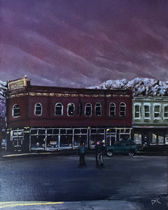 Stanislawski Building Ouray by Phillip Conner, Spray Paint and Acrylic