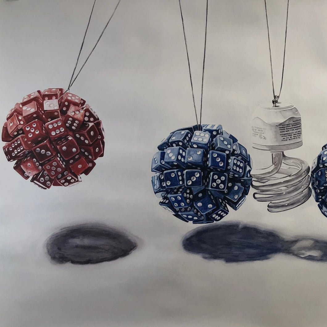 Pendulum by Yourden Ricardo, Watercolor on Paper