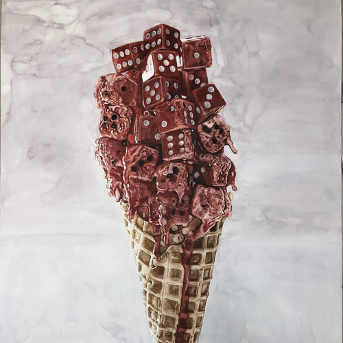 This is Not an Ice Cream by Yourden Ricardo, Watercolor on Paper
