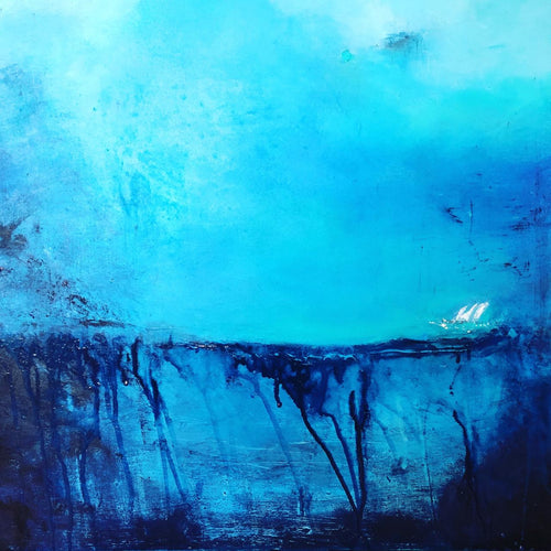 What Lies Beneath by Eleanor McKnight, Oil and Acrylic on Canvas