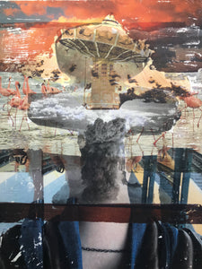 """Pray"" by Anna Lyshchenko & Valeriia Lyshchenko, Collage on Canvas"