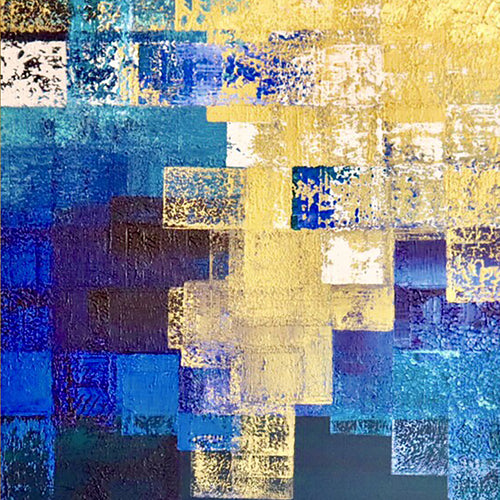 Komorebi- The beauty of Filtered, Indirect Light by Mami Ishibashi, Mixed Media on Canvas