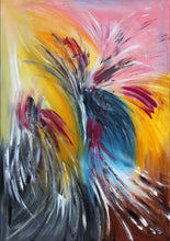 """Peafowl's Dance"" By Miroslava Pavuckova., Acrylic on Canvas"