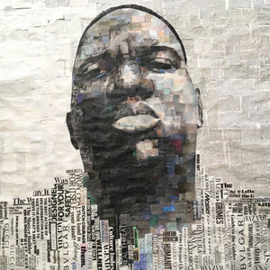 BIGGIE by Whitney Anderson, Hand-Cutout Collage