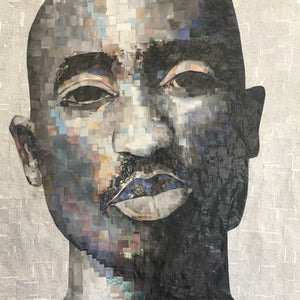 Tupac by Whitney Anderson, Hand-Cutout Collage
