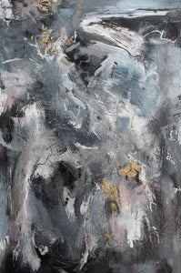 I Don't Like Black, by Thien Nguyen, Mixed Media on Canvas
