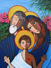 Holy Family by Jacqui Miller, Acrylic on Canvas